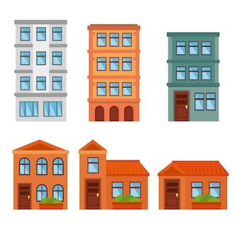 Stad landschap gebouwen pictogram