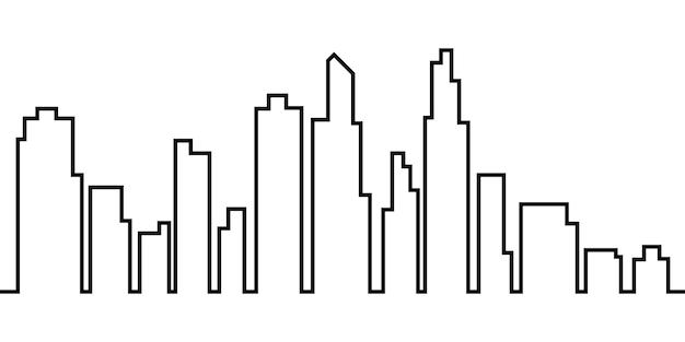 Stad lijn achtergrond eenvoudig ontwerp