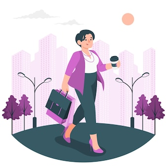 Stad meisje concept illustratie