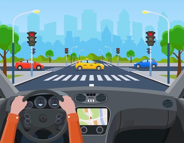 Stad met verkeerslichten
