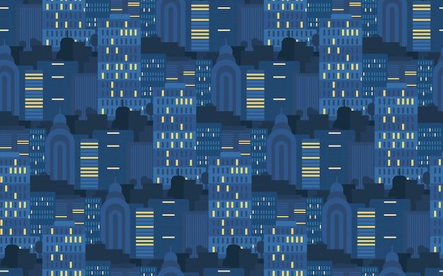 Stad naadloos patroon