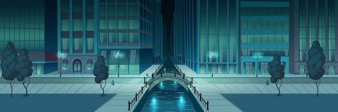 Stad nacht embankment banner
