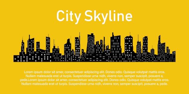 Stad op een gele.