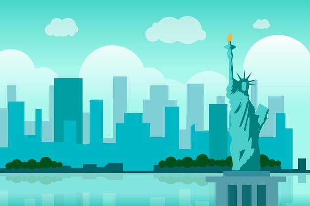 Stad oriëntatiepunten achtergrond voor videoconferenties