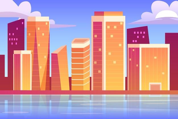 Stad oriëntatiepunten achtergrondthema