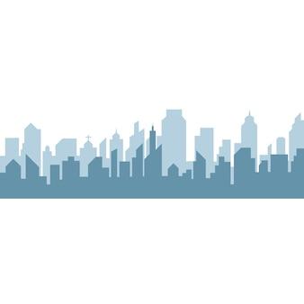Stad skyline achtergrond vector illustratie ontwerp