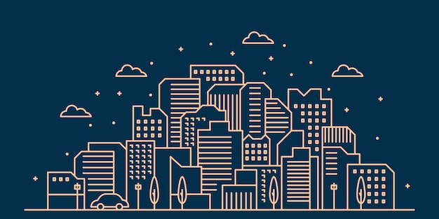 Stad skyline illustratie