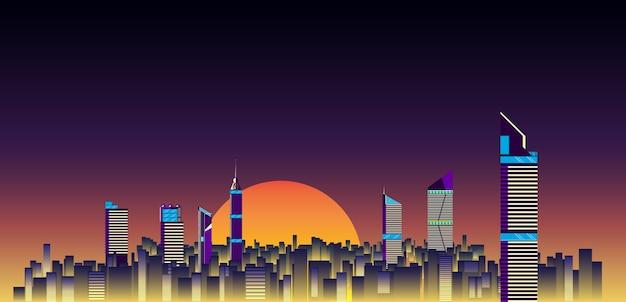 Stad skylines achtergrond