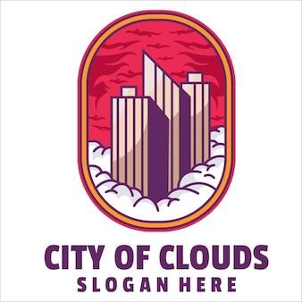 Stad van wolken