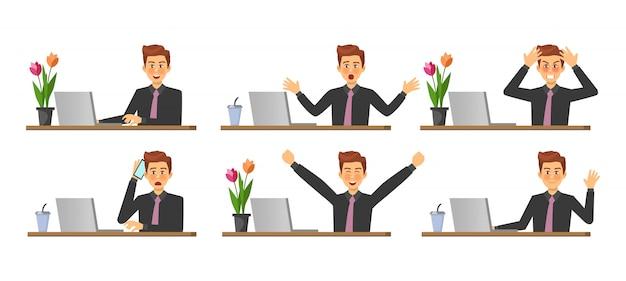 Stadia van het werk op een computer