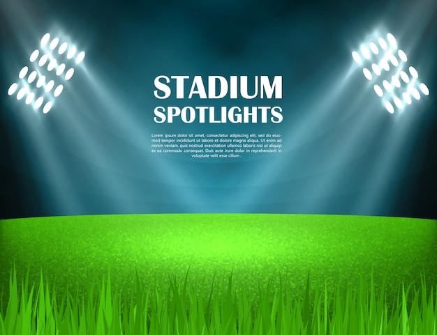 Stadium schijnwerpers concept