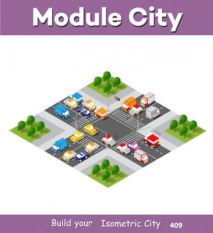 Stadsboulevard isometrisch