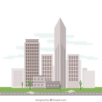 Stadsgebouwen illustratie