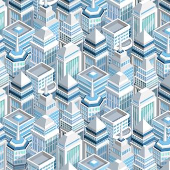 Stadsgebouwen naadloze patroon