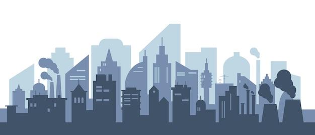 Stadsgezicht met grote moderne gebouwen
