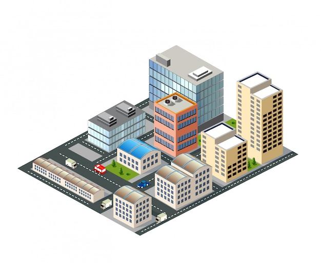 Stadsgezicht ontwerpelementen