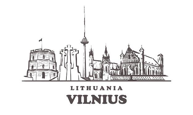 Stadsgezicht van vilnius, litouwen