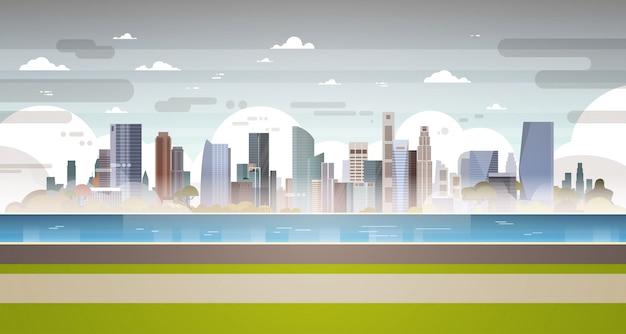 Stadsgezicht vol vervuiling