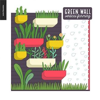 Stadslandbouw en tuinieren - verticale landbouw