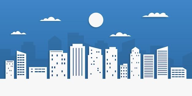 Stadslandschap in papierstijl. papieren kunst