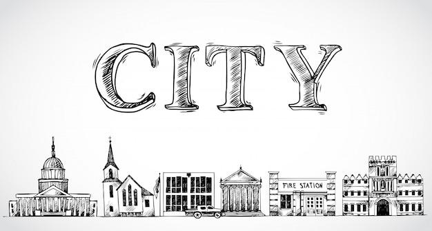 Stadsstad achtergrond