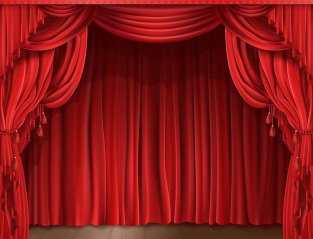 Stage gordijn realistisch