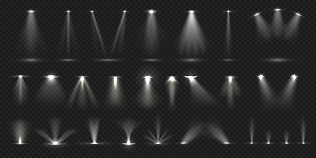Stage spotlight. show stage light effect-collectie
