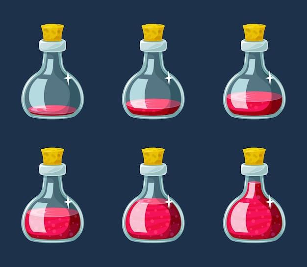 Stages vullen fles met magische elixerset
