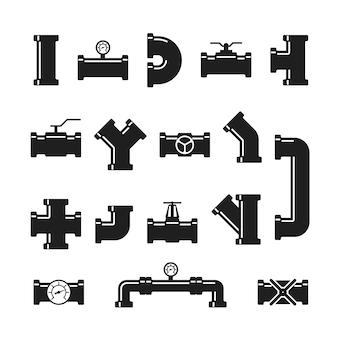 Stalen buisverbinder, fittingen, kleppen, industrieel sanitair voor water- en gasleidingen