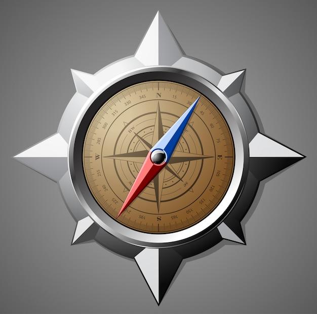 Stalen kompas met schaalverdeling