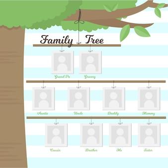 Stamboom hangen op een tak
