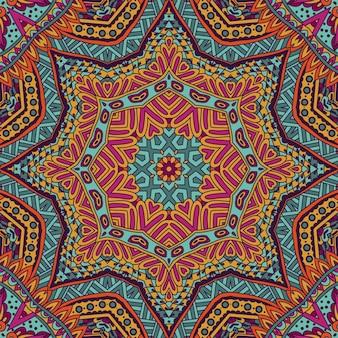 Stammen indisch bloem etnisch naadloos ontwerp.