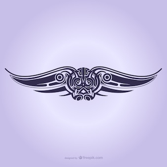 Stammenvleugels ornament tattoo