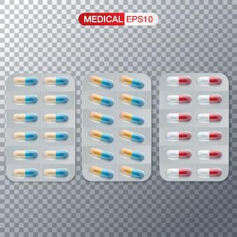 Standaardtabletten en pillen vectorreeks