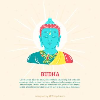 Standbeeld van budha achtergrond