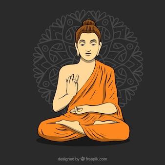Standbeeld van de achtergrond van boedha