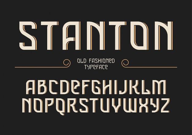 Stanton decoratief vintage retro lettertype