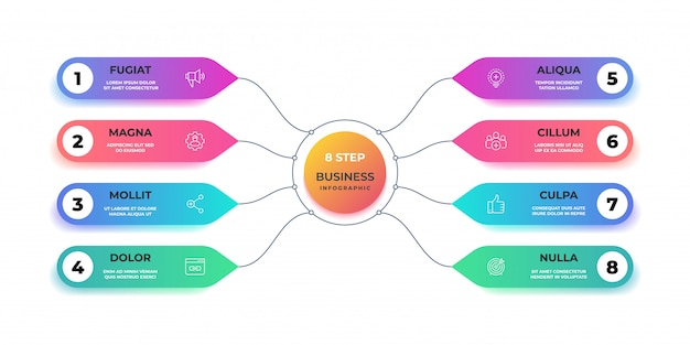 Stap 3d-infographic. realistische grafische cirkelgrafiek, ronde zakelijke grafieklay-out, stappresentatie. werkstroombanner