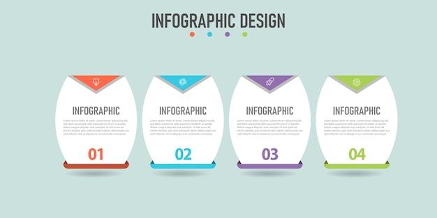 Stap infographic bedrijfselement