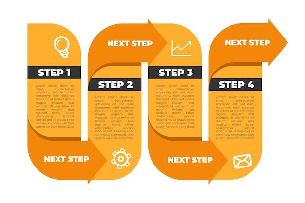 Stap infographic collectie