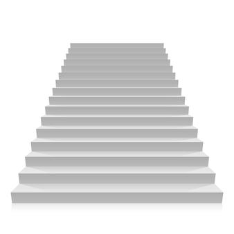 Stap op een object met een witte achtergrond. vector illustratie