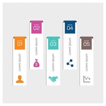 Stap voor stap infographic ontwerp
