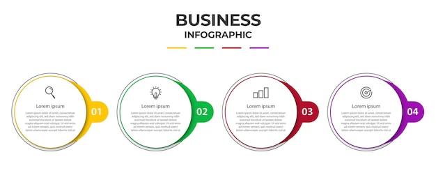 Stap zakelijk infographic element