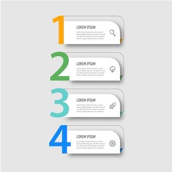 Stap zakelijke infographic ontwerp presentatiesjabloone