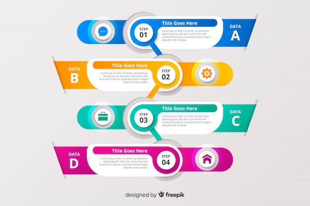 Stap zakelijke infographic