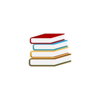 Stapel boeken pictogram ontwerp sjabloon vectorillustratie