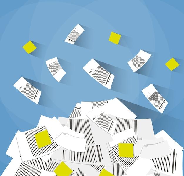 Stapel kantoorpapieren