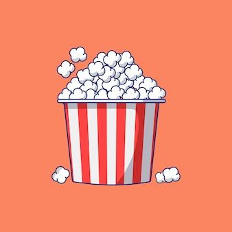 Stapel popcorn vlakke afbeelding vector