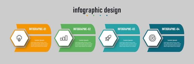 Stappen infographic ontwerp