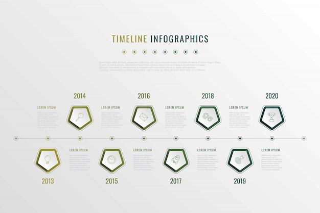 Stappen infographic sjabloon met realistische elementen